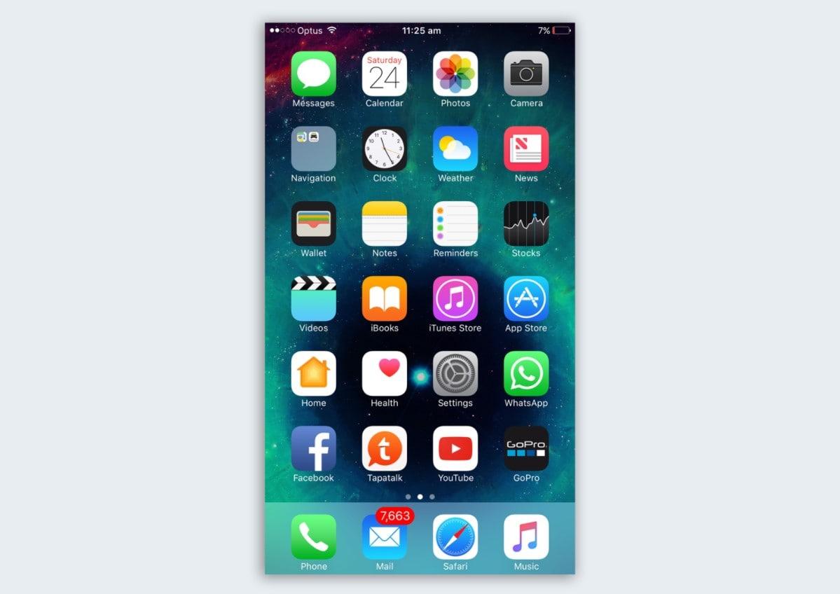 Домашняя страница iPhone