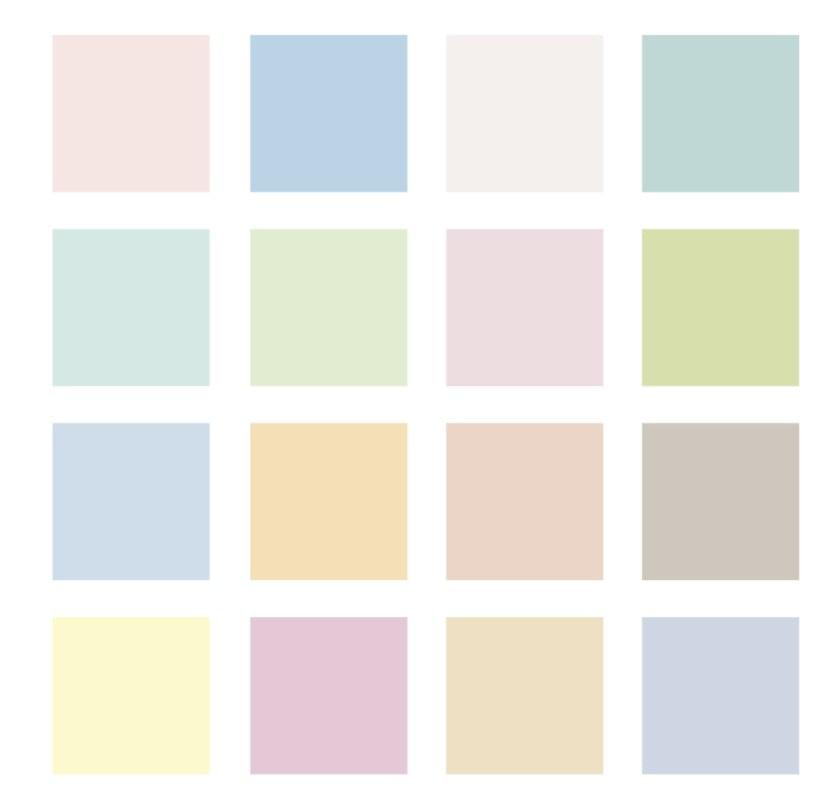 Цветовая палитра постельных тонов