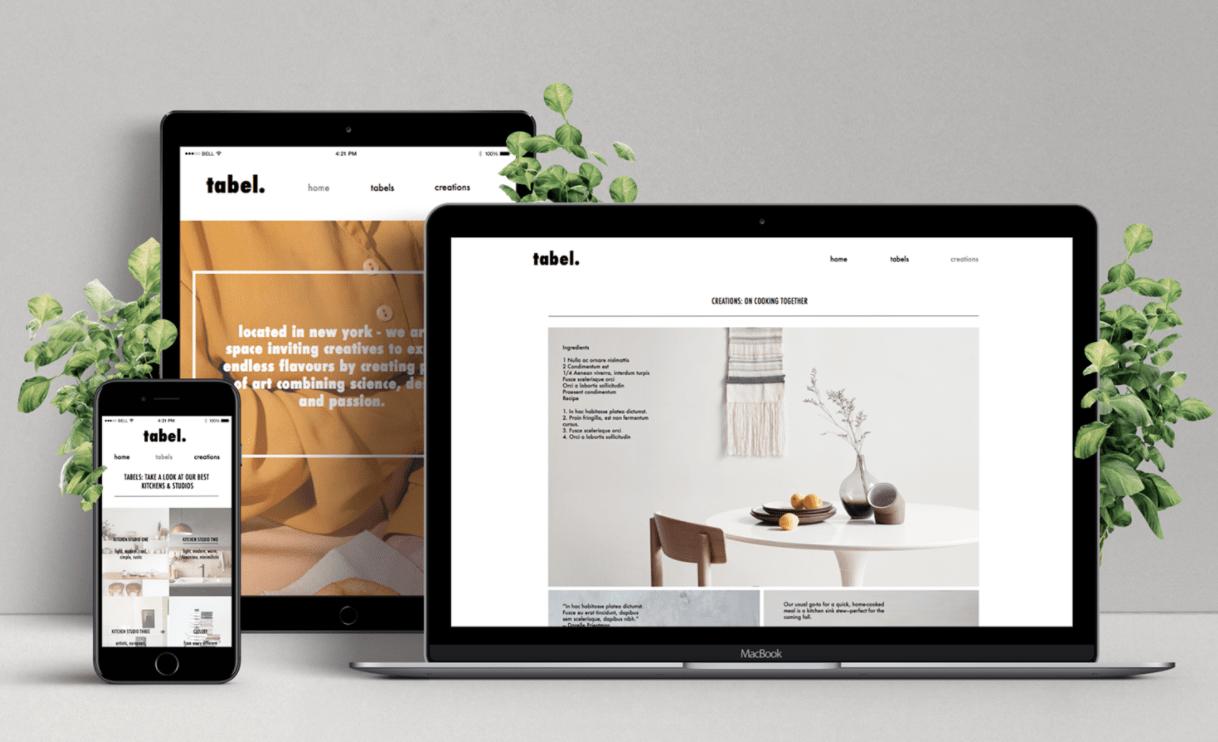 Мокап адаптивного дизайна сайта на разных устройствах