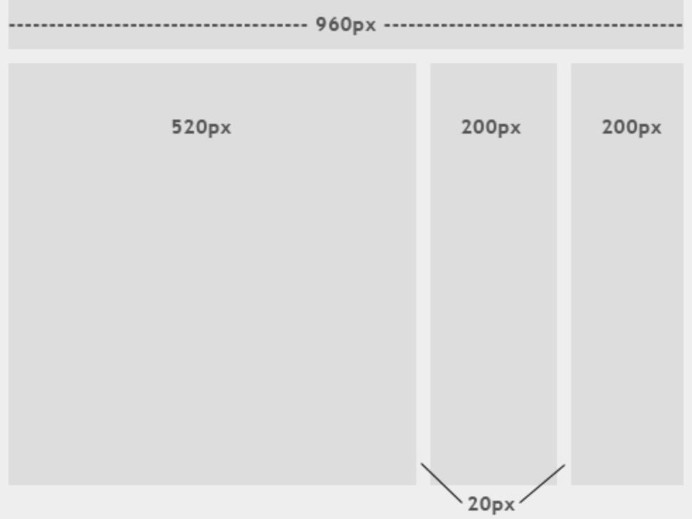 Пример fixed layout макета