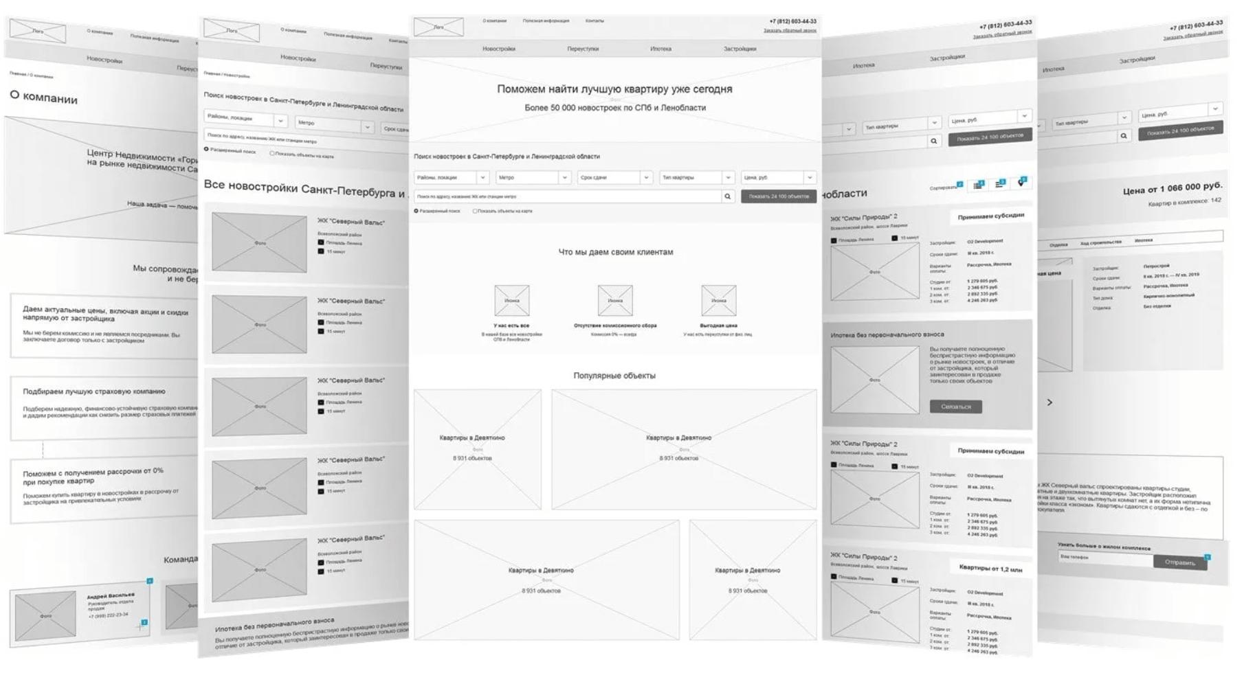 Пример прототипа многостраничного сайта в тематике